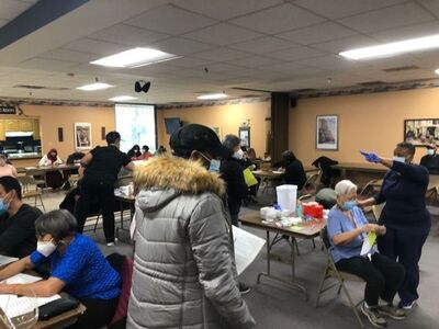 Vaccination event for senior citizens in Bolingbrook